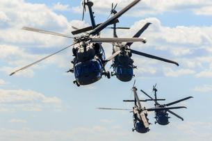 Helicopter military exercise in Malmslatt, Swedenの写真素材 [FYI02209044]