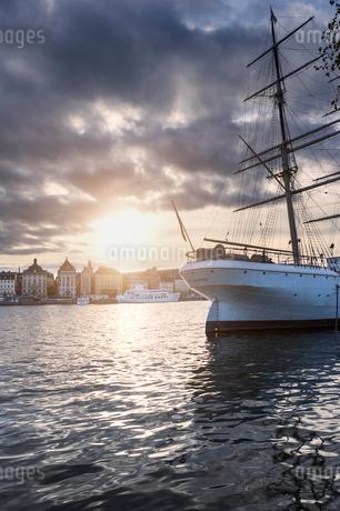A view of Gamla Stan in Swedenの写真素材 [FYI02209407]