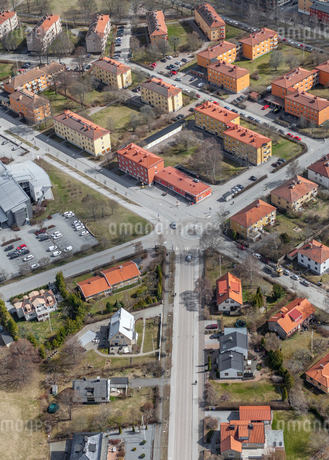 Aerial view of houses in Uppsala, Swedenの写真素材 [FYI02209537]