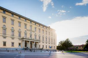 Sweden, Uppland, Uppsala, Building of University Libraryの写真素材 [FYI02209611]