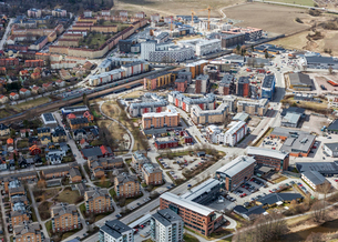 Aerial view of Uppsala, Swedenの写真素材 [FYI02209909]