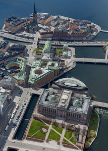 Aerial view of Stockholm, Swedenの写真素材 [FYI02209994]