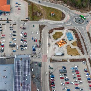 Aerial view of Uppsala, Swedenの写真素材 [FYI02210314]