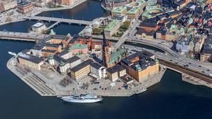 Aerial view of Gamla Stan in Stockholm, Swedenの写真素材 [FYI02210383]