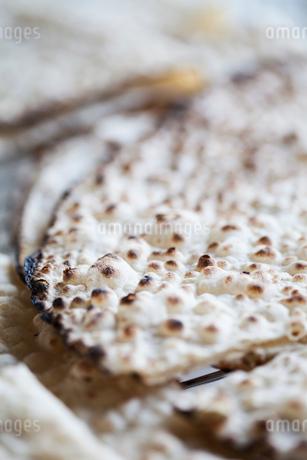 Close-up of baked crispbread in Swedenの写真素材 [FYI02210640]