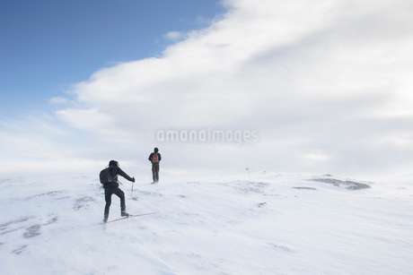 Skiers in Are, Swedenの写真素材 [FYI02210658]