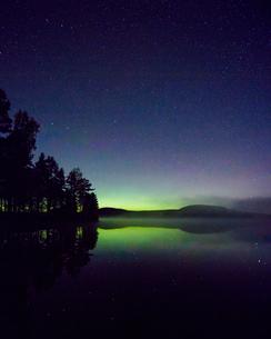 Northern lights in Dalarna, Swedenの写真素材 [FYI02210816]