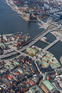 Aerial view of Stockholm, Swedenの写真素材 [FYI02210980]