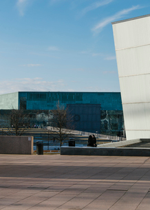 A contemporary building in Helsinki, Finlandの写真素材 [FYI02211152]