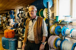 Rope maker in his shopの写真素材 [FYI02211267]