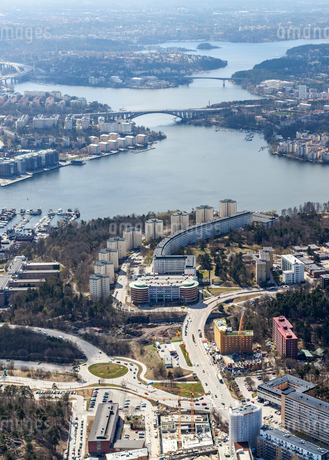 Aerial view of Solna, Swedenの写真素材 [FYI02211387]