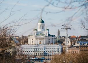 Helsinki Cathedral in Helsinki, Finlandの写真素材 [FYI02211463]