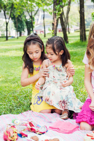 Children at birthday picnicの写真素材 [FYI02211529]
