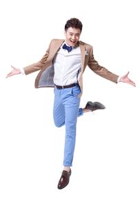 Trendy businessman dancingの写真素材 [FYI02212210]