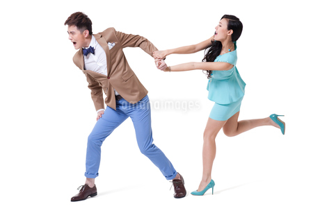 Young couple having a fightの写真素材 [FYI02212237]