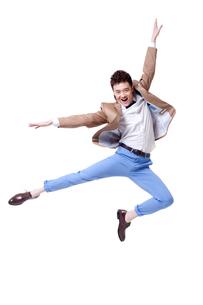 Trendy businessman dancingの写真素材 [FYI02212376]