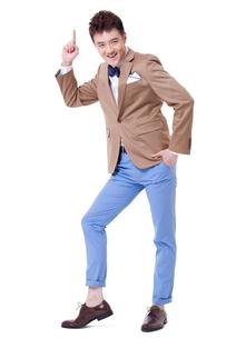 Trendy businessman looking coolの写真素材 [FYI02212413]