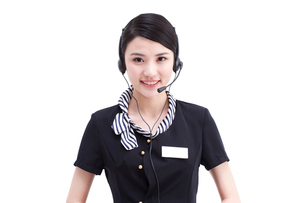Female customer service staffの写真素材 [FYI02213233]