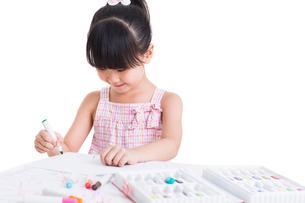 Cute girl drawingの写真素材 [FYI02214417]