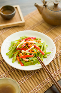 Chinese cuisine spicy bitter melonの写真素材 [FYI02215181]
