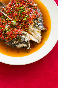 Chinese cuisine chili fish headの写真素材 [FYI02215278]