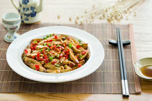Chinese cuisine fried tofuの写真素材 [FYI02215348]