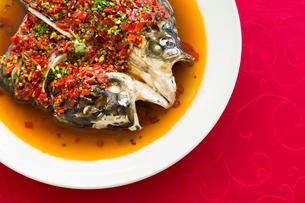Chinese cuisine chili fish headの写真素材 [FYI02216806]