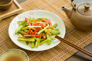 Chinese cuisine spicy bitter melonの写真素材 [FYI02217397]