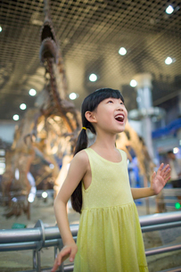 Little girl in museum of natural historyの写真素材 [FYI02218515]