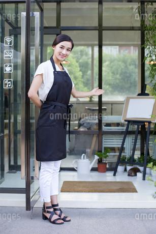 Coffee shop waitressの写真素材 [FYI02219081]