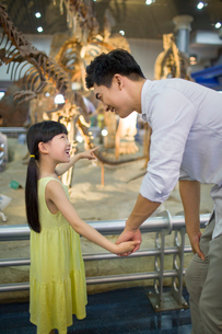 Young father and daughter in museum of natural historyの写真素材 [FYI02220117]