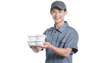 Take-out deliverymanの写真素材 [FYI02220855]