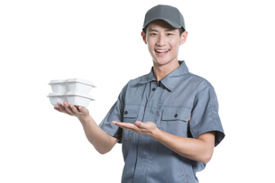 Take-out deliverymanの写真素材 [FYI02220904]