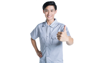 Technician giving thumbs upの写真素材 [FYI02220961]