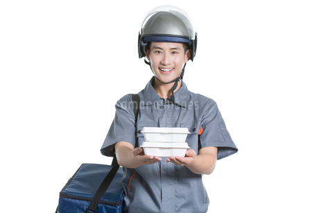 Take-out deliverymanの写真素材 [FYI02221039]