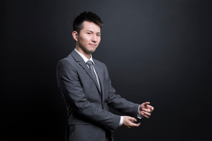 Serious Chinese businessmanの写真素材 [FYI02221872]