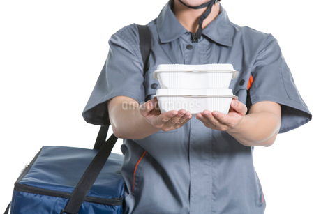 Take-out deliverymanの写真素材 [FYI02222153]