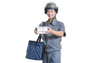 Take-out deliverymanの写真素材 [FYI02222795]