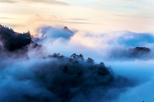 Mt Huangshan in Anhui province,Chinaの写真素材 [FYI02224435]