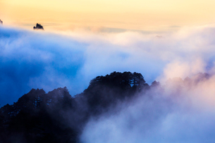 Mt Huangshan in Anhui province,Chinaの写真素材 [FYI02224599]