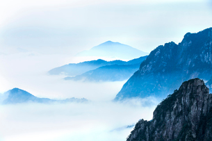 Mt Huangshan in Anhui province,Chinaの写真素材 [FYI02224611]