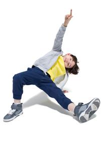 Cute boy break dancingの写真素材 [FYI02224622]