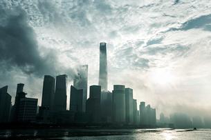 Shanghai cityscape,Chinaの写真素材 [FYI02224678]