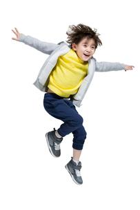 Cute boy break dancingの写真素材 [FYI02225061]