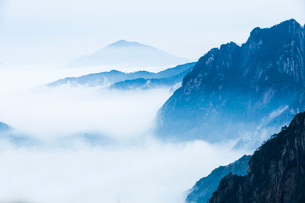 Mt Huangshan in Anhui province,Chinaの写真素材 [FYI02225145]