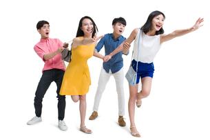 Happy young friendsの写真素材 [FYI02225313]