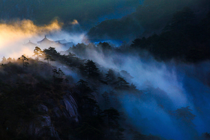 Mt Huangshan in Anhui province,Chinaの写真素材 [FYI02225517]