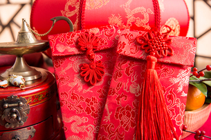 Chinese traditional items for Chinese New Yearの写真素材 [FYI02225864]