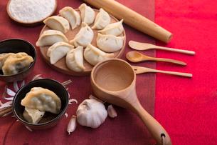 Chinese dumplingsの写真素材 [FYI02226038]