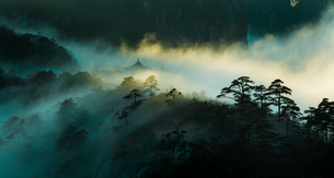 Mt Huangshan in Anhui province,Chinaの写真素材 [FYI02226118]